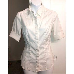White House Black Market Button Down Work Shirt
